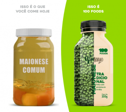 MAIONESE VEGANA ABACATE 200G - 100 FOODS